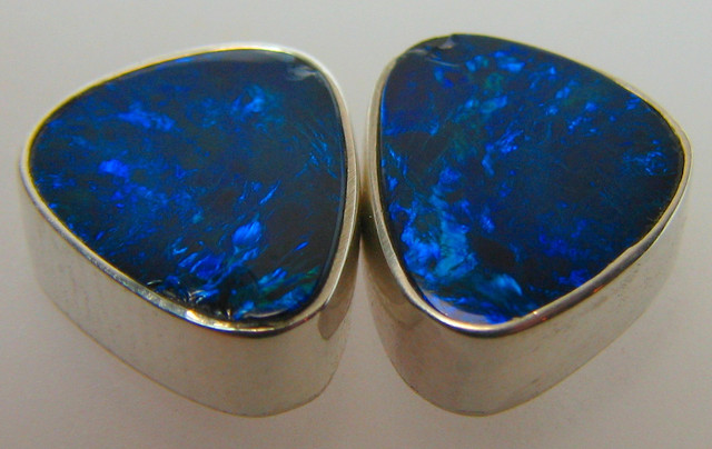 13.90 CTS DOUBLET OPAL STERLING SILVER 925 BLUE FIRE A9457