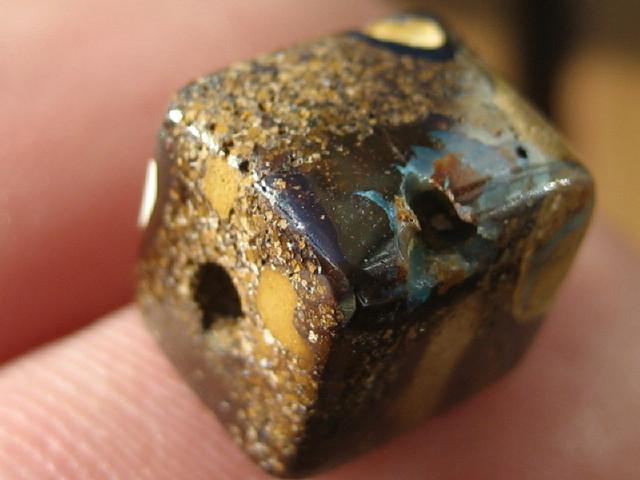 YowahOpal- 10.40Cts Boulder Matrix Opal -Square Beads