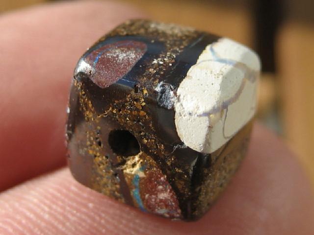 YowahOpal- 14.20Cts Boulder Matrix Opal -Square Beads