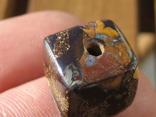 YowahOpal- 14.10Cts Boulder Matrix Opal -Square Beads