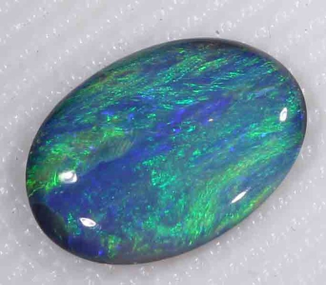 BRIGHT BLACK OPAL FROM LR - 1.05 CTS