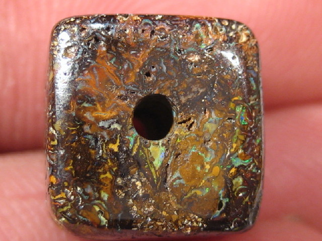YowahOpal- 15.50Cts Boulder Matrix Opal -Square Beads