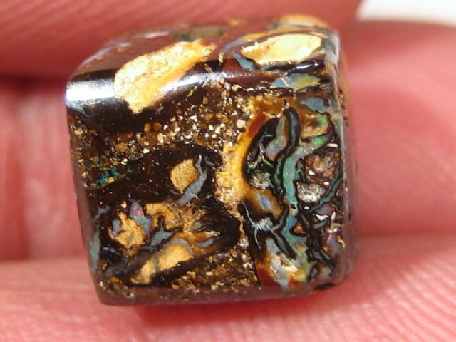 YowahOpal- 12.50Cts Boulder Matrix Opal -Square Beads