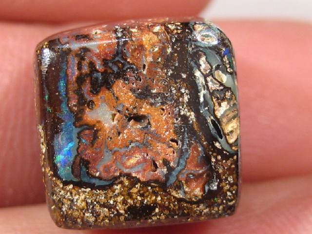YowahOpal- 18.00Cts Boulder Matrix Opal -Square Beads