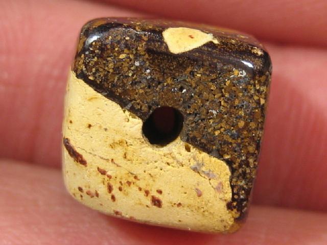 YowahOpal- 17.95Cts Boulder Matrix Opal -Square Beads