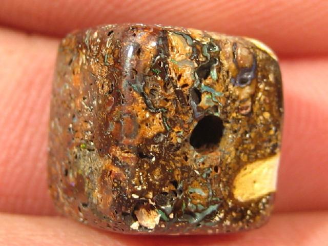YowahOpal- 16.50Cts Boulder Matrix Opal -Square Beads