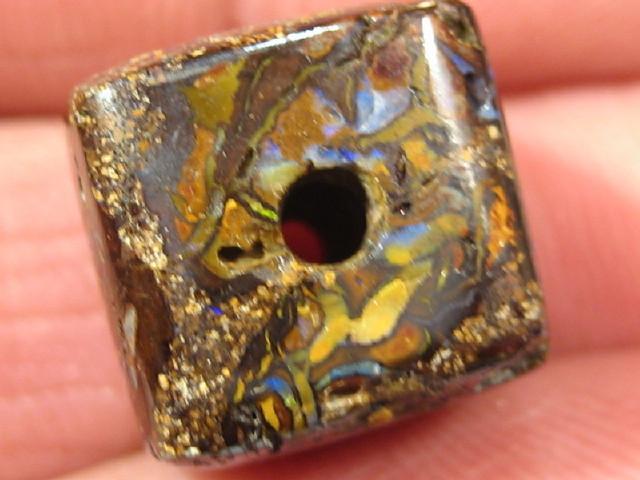 YowahOpal- 20.05Cts Boulder Matrix Opal -Square Beads