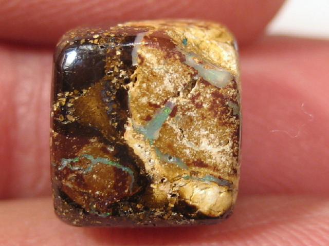 YowahOpal- 9.65Cts Boulder Matrix Opal -Square Beads