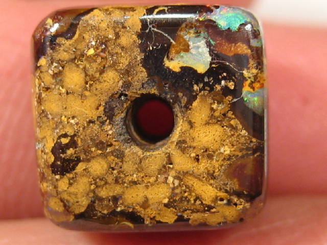 YowahOpal- 15.30Cts Boulder Matrix Opal -Square Beads