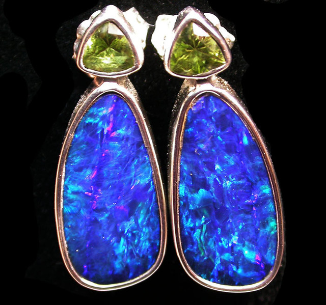 24 CTS DOUBLET EARRING WITH PERIDOT-DIRECT FACTORY [SOJ1847]