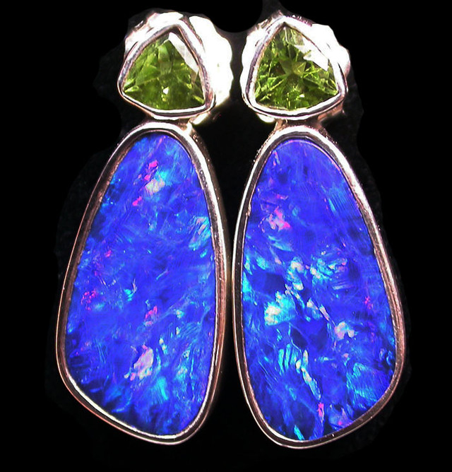 22 CTS DOUBLET EARRING WITH PERIDOT-DIRECT FACTORY [SOJ1844]