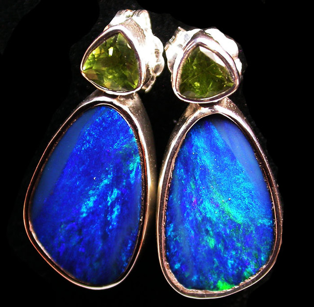 23 CTS DOUBLET EARRING WITH PERIDOT-DIRECT FACTORY [SOJ1845]