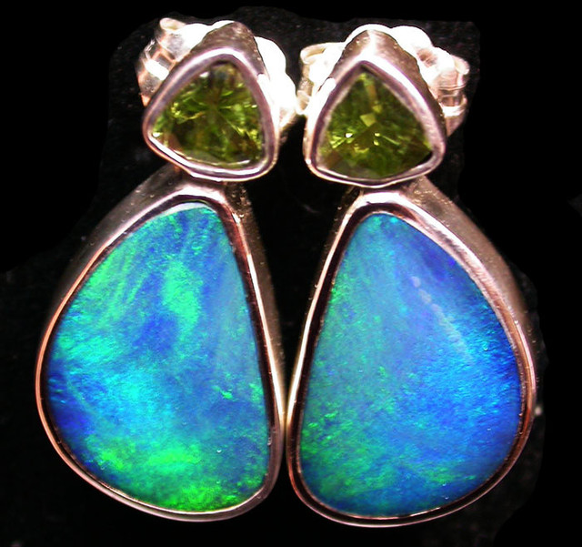 19 CTS DOUBLET EARRING WITH PERIDOT-DIRECT FACTORY [SOJ1851]