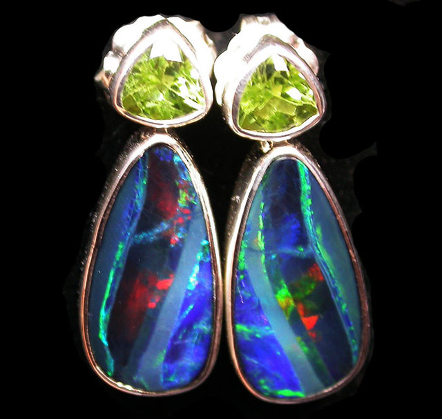 15 CTS DOUBLET EARRING WITH PERIDOT-DIRECT FACTORY [SOJ1854]