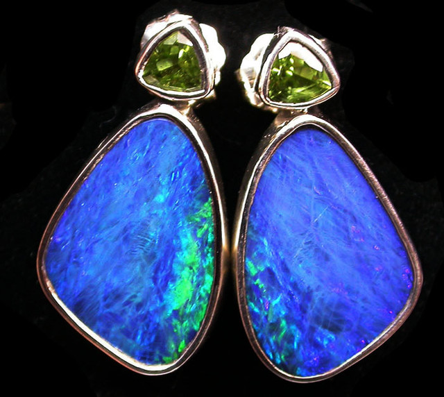 26 CTS DOUBLET EARRING WITH PERIDOT-DIRECT FACTORY [SOJ1855]