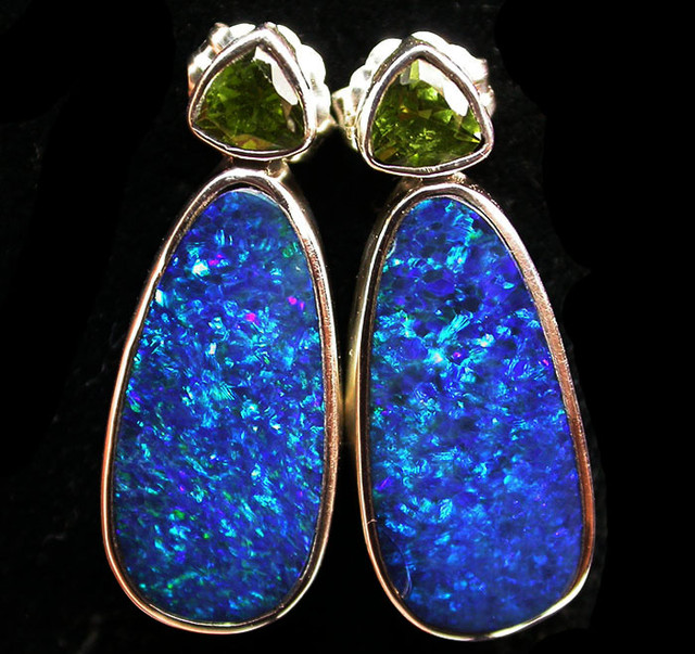 25 CTS DOUBLET EARRING WITH PERIDOT-DIRECT FACTORY [SOJ1867]