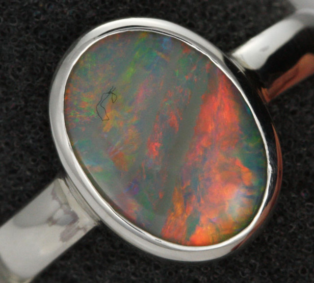 9 RING SIZE SOLID OPAL FACTORY DIRECT [SOJ1456]