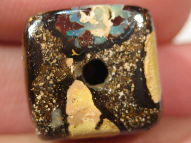 YowahOpal- 27.30Cts Boulder Matrix Opal -Square Beads