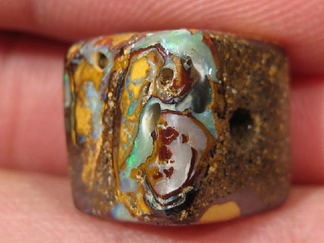 YowahOpal- 21.80Cts Boulder Matrix Opal -Square Beads