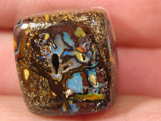 YowahOpal- 26.50Cts Boulder Matrix Opal -Square Beads