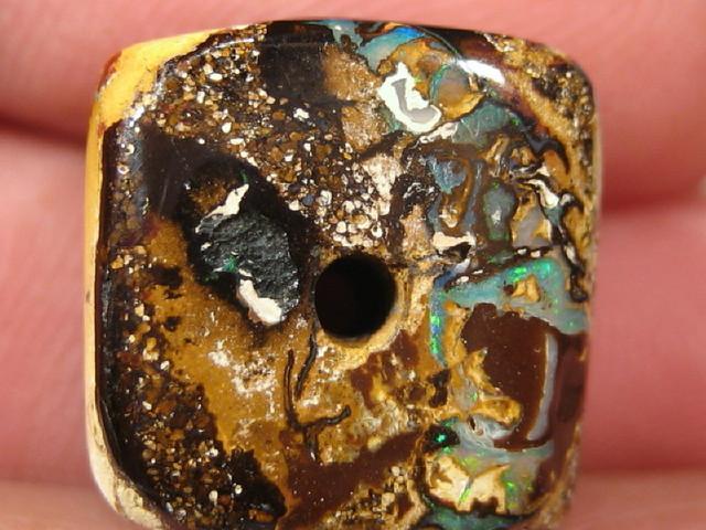 YowahOpal- 27.00Cts Boulder Matrix Opal -Square Beads
