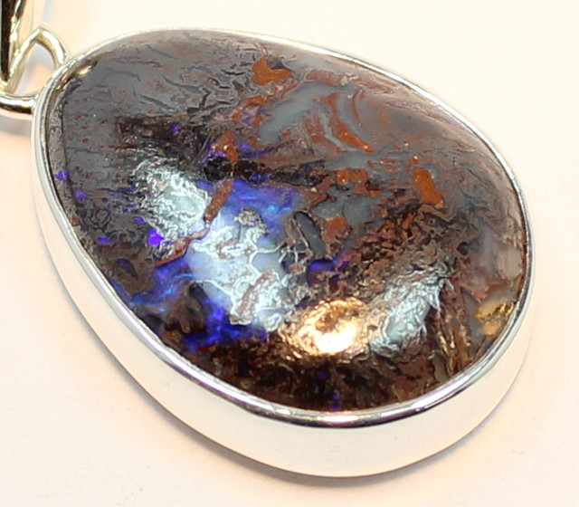 31.60 CTS BOULDER OPAL PENDANT STERLING SILVER 925 A9554