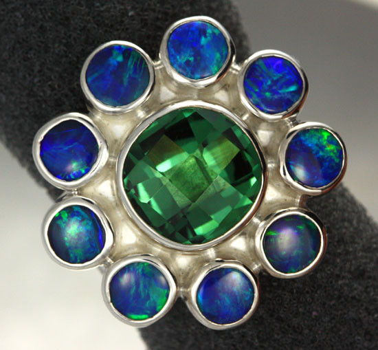 6 RING SIZE  DOUBLETS + GREEN AMETHYST FACTORY [SOJ1924]
