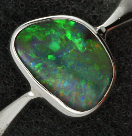 7 RING SIZE NATURAL  BOULDER OPAL RING  [SOJ1934 ]SH
