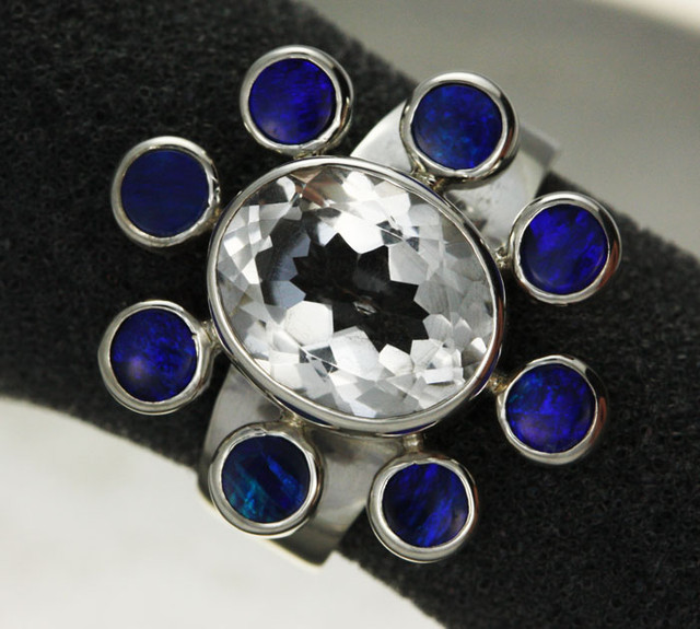 6 RING SIZE DOUBLET + TOPAZ -FACTORY DIRECT [SOJ1939 ]
