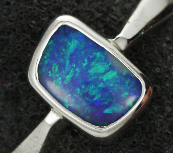 7 RING SIZE NATURAL  BOULDER OPAL RING  [SOJ1945 ]SH
