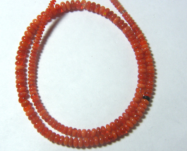 36.10 CTS VS QUALITY FIRE OPAL BEADS  FOB-11