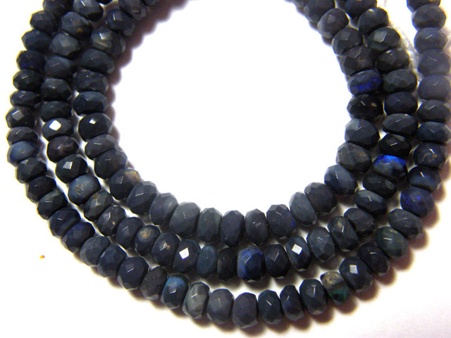 50.95 CTS AAA QUALITY BLACK OPAL BEADS DRILLED FOB-12