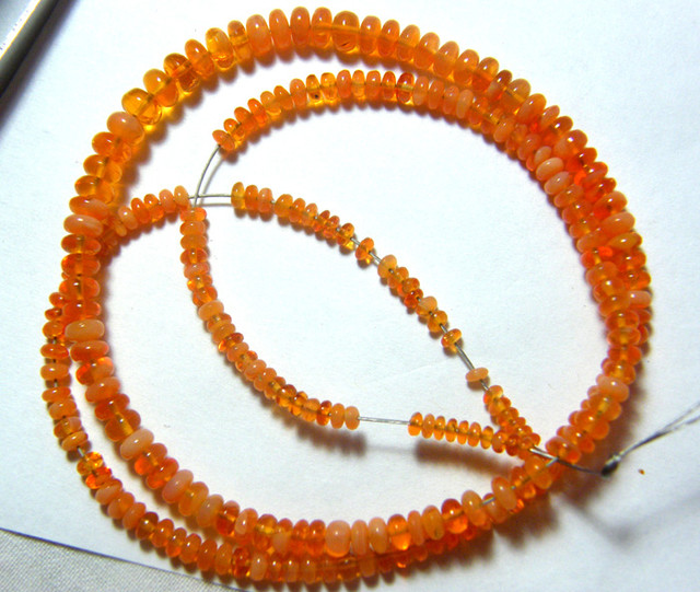 36.40  CTS QUALITY AAA MEXICAN FIRE OPAL BEADS   FOB-5