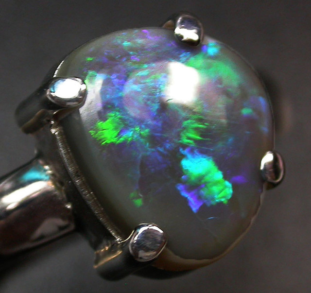8 RING SIZE SOLID OPAL FACTORY DIRECT [SOJ2054]SH