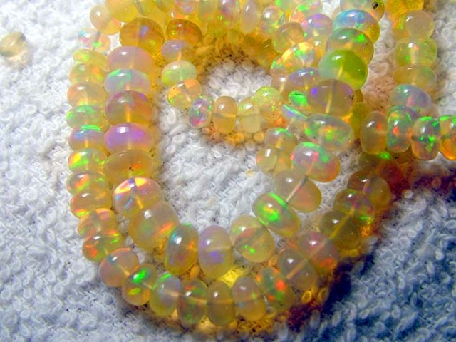 43 CTS ETHIOPIAN WELO RONDELLE DRILLED BEADS