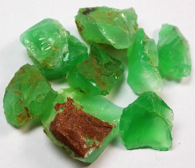 79.81 CTS A GRADE GREEN OPAL [PRASE OPAL] TANZANIA [VS5910]