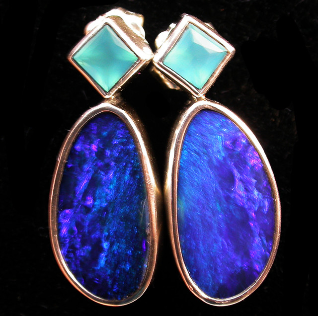 22 CTS DOUBLET EARRING/CHALCENDONY-FACTORY DIRECT SOJ2192