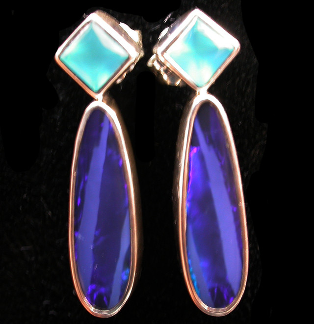 19 CTS DOUBLET EARRING/CHALCENDONY-FACTORY DIRECT SOJ2195