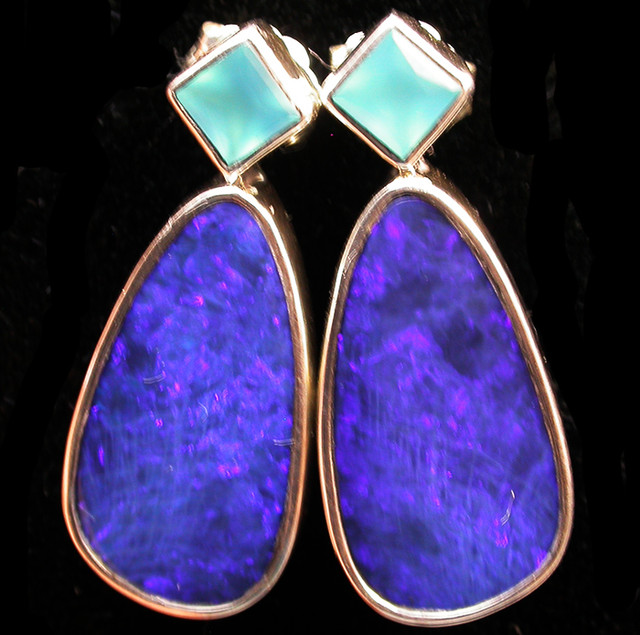 28.50 CTS DOUBLET EARRING/CHALCENDONY-FACTORY DIRECT SOJ2199
