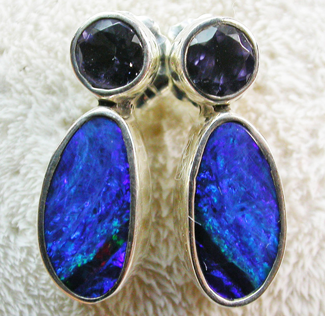 13 CTS DOUBLET WITH WATER SAPPHIRE[IOLITE] SOJ2183
