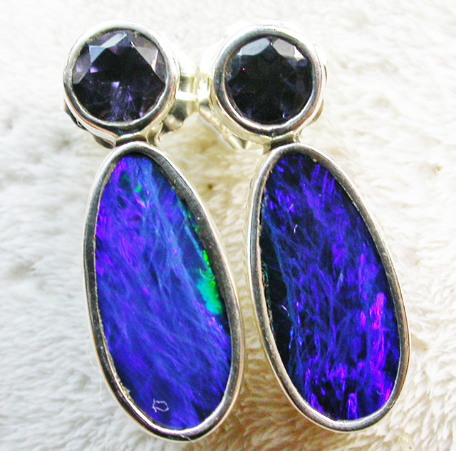 13.50 CTS DOUBLET WITH WATER SAPPHIRE[IOLITE] SOJ2186