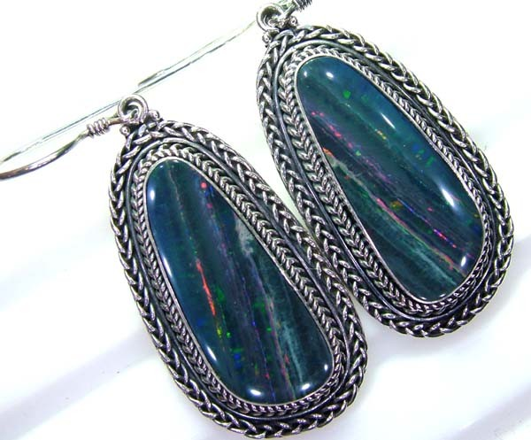 59.50CTS  DOUBLET SILVER EARRINGS-FACTORY DIRECT [SOJ2208 ]