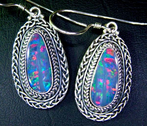 36CTS  DOUBLET SILVER EARRINGS-FACTORY DIRECT [SOJ2214 ]