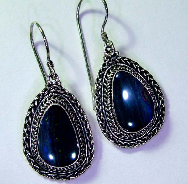 41CTS  DOUBLET SILVER EARRINGS-FACTORY DIRECT [SOJ2215 ]