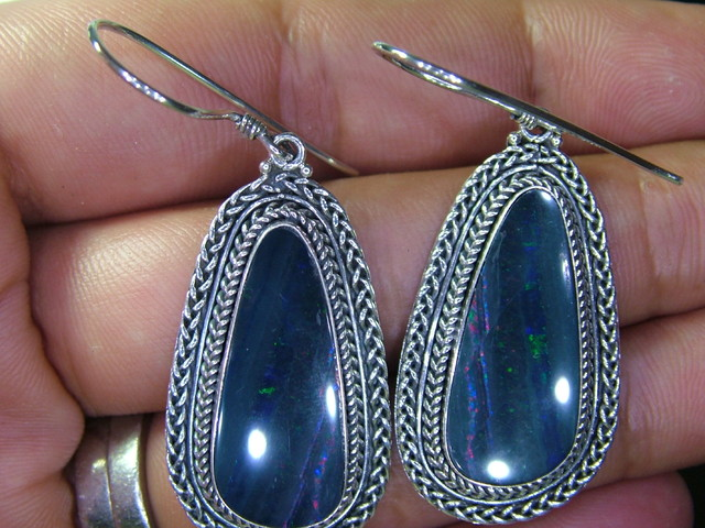 57.50CTS  DOUBLET SILVER EARRINGS-FACTORY DIRECT [SOJ2220 ]