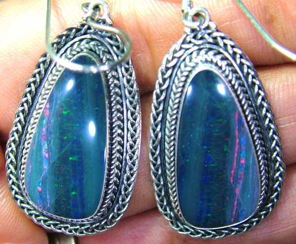 63CTS  DOUBLET SILVER EARRINGS-FACTORY DIRECT [SOJ2221 ]