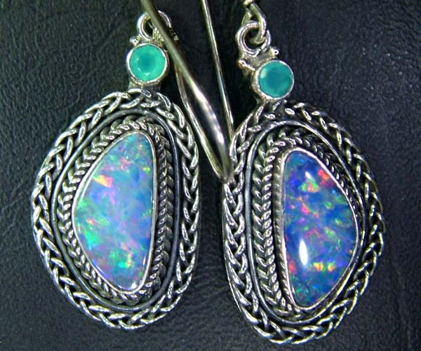 35CTS  DOUBLET SILVER EARRINGS-FACTORY DIRECT [SOJ2223 ]