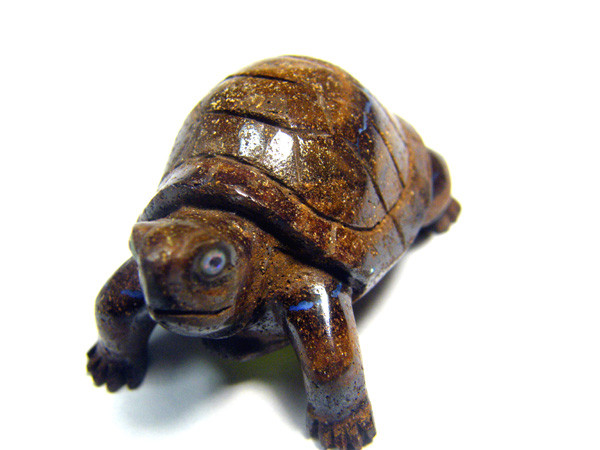 CYBERSALE BOULDER OPAL TURTLE CARVING 100 CTS DLO-56