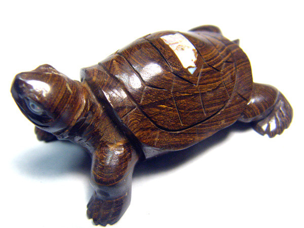150 CTS CYBERSALE BOULDER OPAL TURTLE CARVING DLO-57