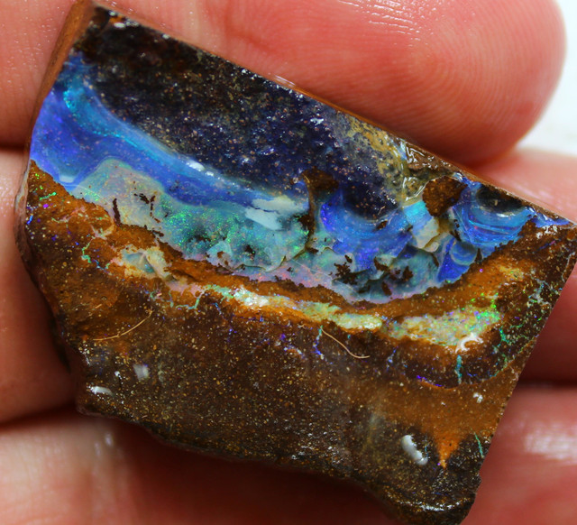 89.20 CTS FACED AND SHAPED BOULDER OPAL READY TO POLISH